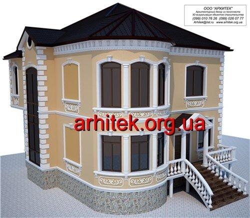 материал для декора фасада частных домов, пенополистирол