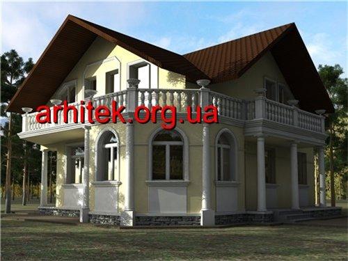 фасад частного дома из пенопласта