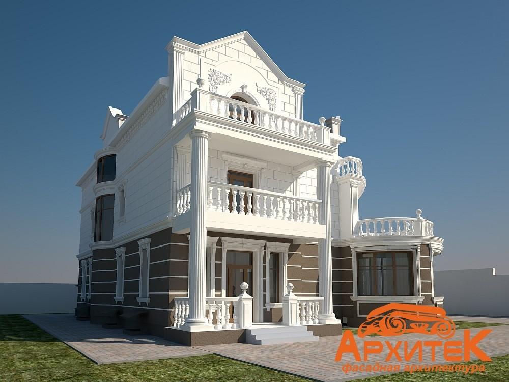 оформление фасадов частных домов пенопластом
