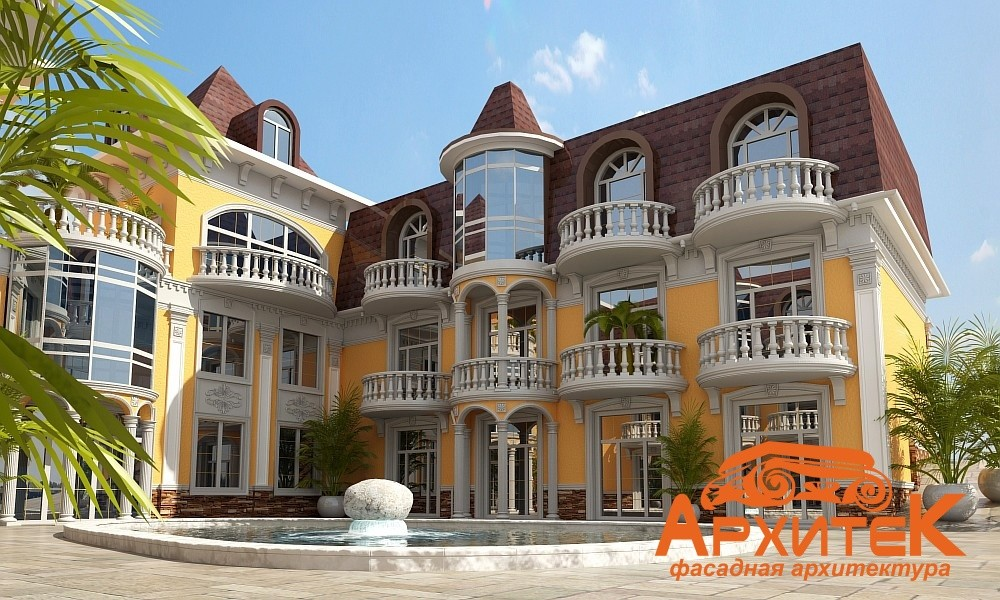 фасад дома из пенопласта фото частных домов