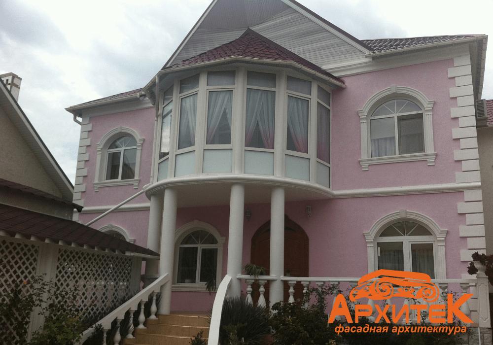 оформление фасада загородного дома