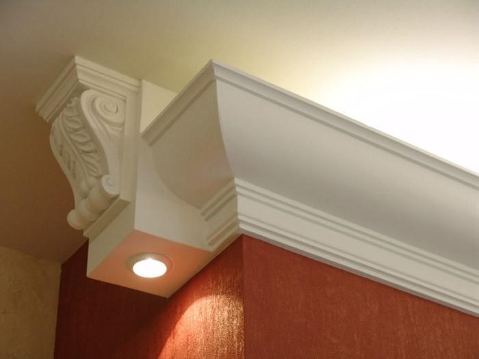 Плинтус потолочный с подсветкой своими руками
