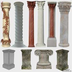 Архитектурные элементы лепного декора - колонны из пенопласта