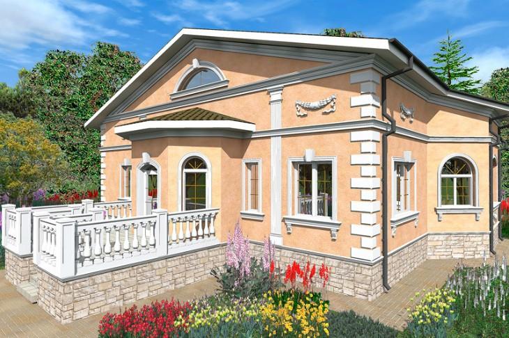 Стильный фасад загородного дома — это дорого? Нет!