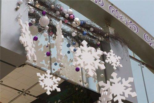 новогодний декор из пенопласта 2014