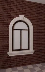 Обрамление окна пенопластом