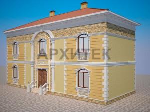 Вариант декорирования фасада №1