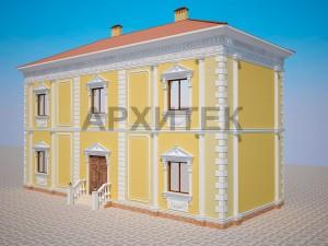 Вариант декорирования фасада №2