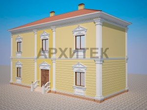 Вариант декорирования фасада №3