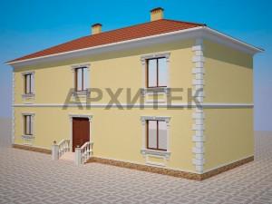 Вариант декорирования фасада №4