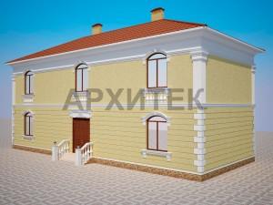 Вариант декорирования фасада №5
