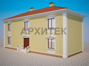 Вариант декорирования фасада №6