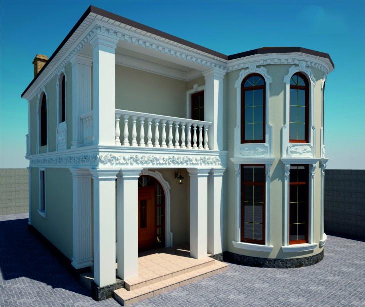 Rhsv Отделка фасада дома современной лепниной: Эскизы фасада