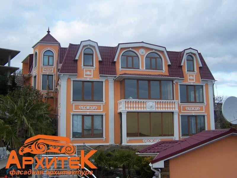 Фасадный декор - примеры