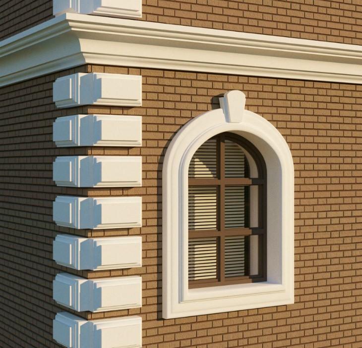 Архитектурный фасад современных домов
