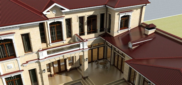 Старинный фасад с современным материалом: Лепной декор