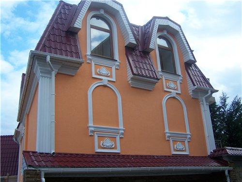 Декоративный элемент из пенополистирола – новые возможности в дизайне фасада.