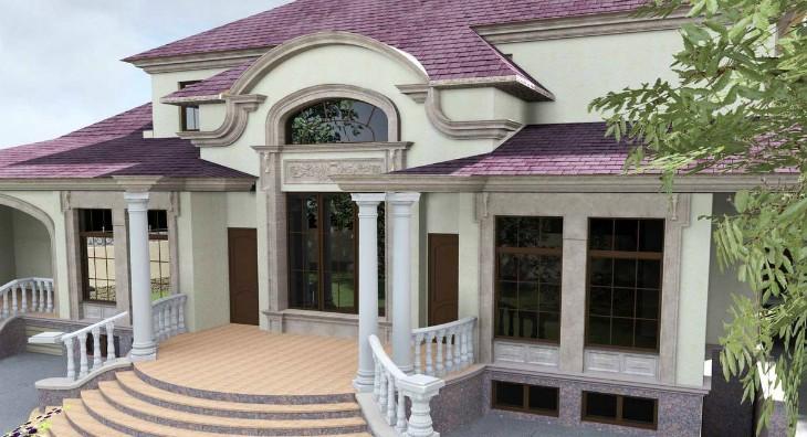 Интересное решение для фасада: Фасадный декор из пенопласта – недорогой и роскошный
