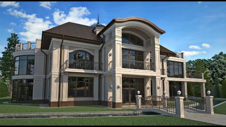 Элитный фасад частного дома или гостиницы